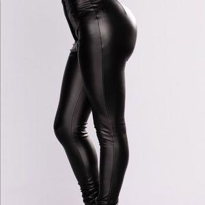Fashion nova high waisted faux leather pants